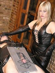 Electro cock and ball torture
